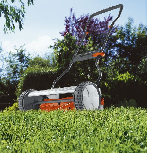 Gardena 4024 15-Inch Silent Push Reel Lawn Mower with Folding Ergonomic Handle image