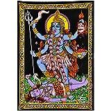 Redbag Goddess Kali Mata - Sequin Decorated Cloth Print