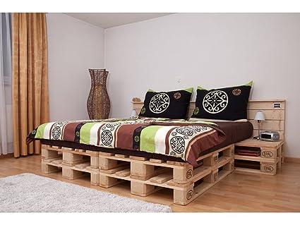 PALoma Doppelbett aus hochwertigen Möbelpaletten (hell)