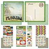 Scrapbook Customs Themed Paper and Stickers Scrapbook Kit, Florida Vintage