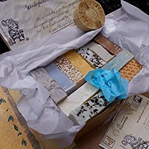 Artisan Soaps All Natural Twelve Piece Gentleman's Handmade Soap Gift Set -Soaps Are Individually Wrapped so They Maintain Their Individual Natural Scent .