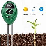 Soil PH Meter Soil Moisture Sensor 3-in-1 Soil Moisture/Light/pH Test Kit for Indoor/Outdoor Plants Care(No Battery Needed)