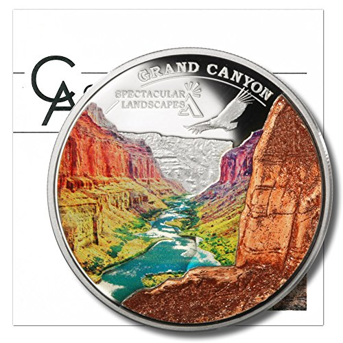 2014-cook-islands-grand-canyon-5-proof-silver-coin-with-embedded-granite-20-grams-of-925-fine-silver