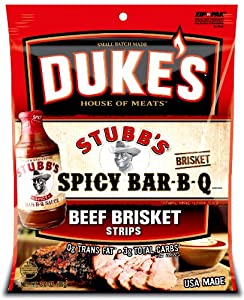 Dukes Stubbs Spicy Bar-b-que Beef Brisket Strips 3-ounce Bags Pack Of 4 from Stubb's