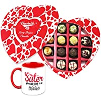 Rakhi Gift For Sister - Bring Happiness Chocolate And Mug Gift Combo With Rakhi - Chocholik Belgium Chocolates