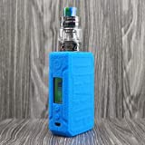 CEOKS for Voopoo Drag 2 177W Silicone Case, Anti-Slip Protective Silicone Case Skin Rubber Cover for Voopoo Drag 2 177W TC Mod Box Rubber case wrap Shield (Blue) (Color: Blue)