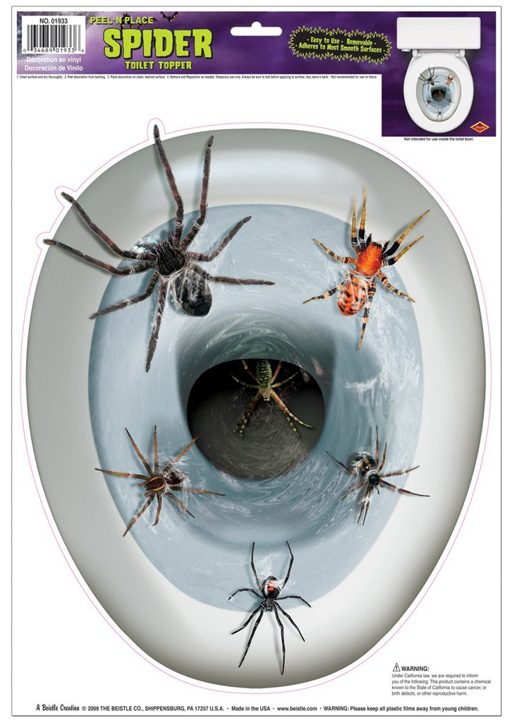 Spider Toilet Topper Peel 'N Place