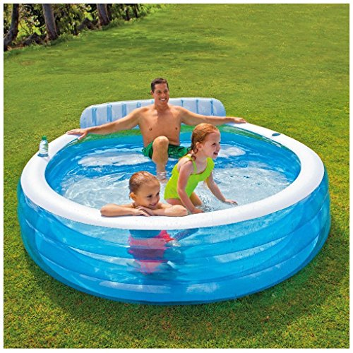 Intex Swim Center Inflatable Family Lounge Pool 88 X 85 X 30 For Ages 3 Home Garden Spa