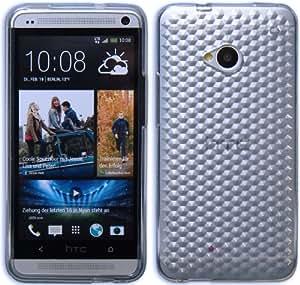 HTC One M7 Coque en Silicone Cover Diamant Etui - Transpartent