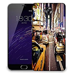 Snoogg New York Time Square At Night Designer Protective Phone Back Case Cover For Meizu M2