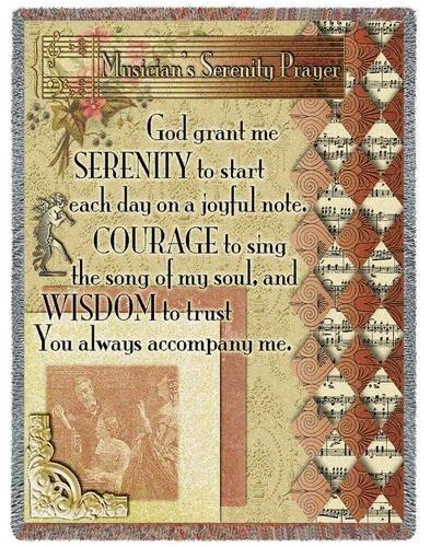 Musicians Serenity Prayer Throw - 70 x 54 Blanket/Throw