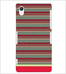 PrintDhaba Tribal Pattern D-1716 Back Case Cover for SONY XPERIA Z3 (Multi-Coloured)