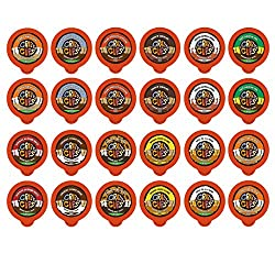 Crazy Cups Decaf Flavor Nation's Selection and Flavored Lovers Single Serve Cups for Keurig K Cups Brewer from Crazy Cups