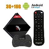 [Powerful 2018 TV BOX] H96 Pro Plus Android 7.1 TV Box 3G RAM + 16G ROM Amlogic S912 Octa Core Smart BOX Dual WiFi 2.4G/5.8GHz Bluetooth 4.1 with Wireless Keyboard
