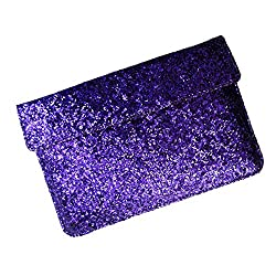 i-KitPit : PU Glitter Sparkling Leather Pouch Case For Lava Xolo Tab 8 QC800 (PURPLE)