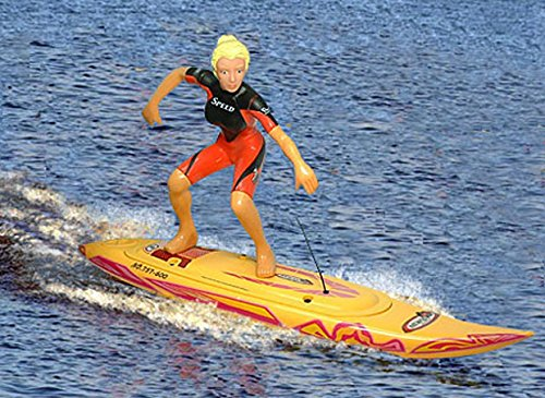 Yellow Surf Boat Rc Surfboard 1/8 Surfer Show Water Cooling Ship