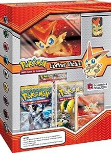 Asmodee - POKVICT - Jeu de cartes à jouer et à collectionner - Coffret Pokemon Victini + Figurine