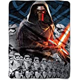 Star Wars Episode VII The Force Awakens Lead Force 40 X 50 Silk Touch Throw
