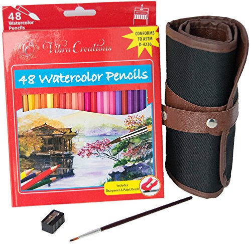 48-color-watercolor-pencil-set-artist-grade-water-soluble-colored-pencil-set-with-canvas-wrap-case-s