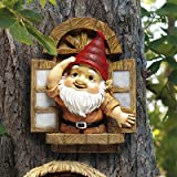 Design Toscano QL4283 The Knothole Gnomes Garden Welcome Tree Sculpture: Window Gnome