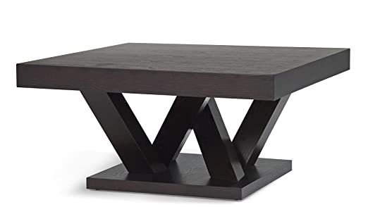 Madero Wood Finish Square Coffee Table