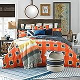 Tommy Hilfiger St Andrews Comforter, Full/Queen, Orange