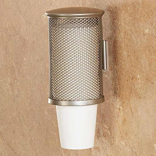 Wall Mounted Cup Dispenser in Brushed Nickel (Bathroom Cup Holder compare prices)