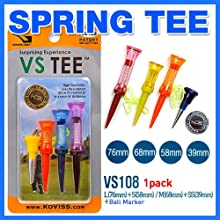 Flexible Original spring VS GOLF TEES 5EA amp Ball marker set VS108