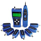 KOLSOL Network Tester Network Ethernet LAN Phone Tester with 8 Far-end Jacks Wire Tracker USB coaxial Cable AT112 (Color: AT112)