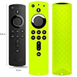 Covers for All-New Alexa Voice Remote for Fire TV Stick 4K, Fire TV Stick (2nd Gen), Fire TV (3rd Gen) Shockproof Protective Silicone Case - Chartreuse (Color: Chartreuse)