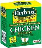 Herb-Ox Bouillon Packets Chicken Instant Broth & Seasoning Sodium Free 8 count 1.2 oz Box (Gluten Free)