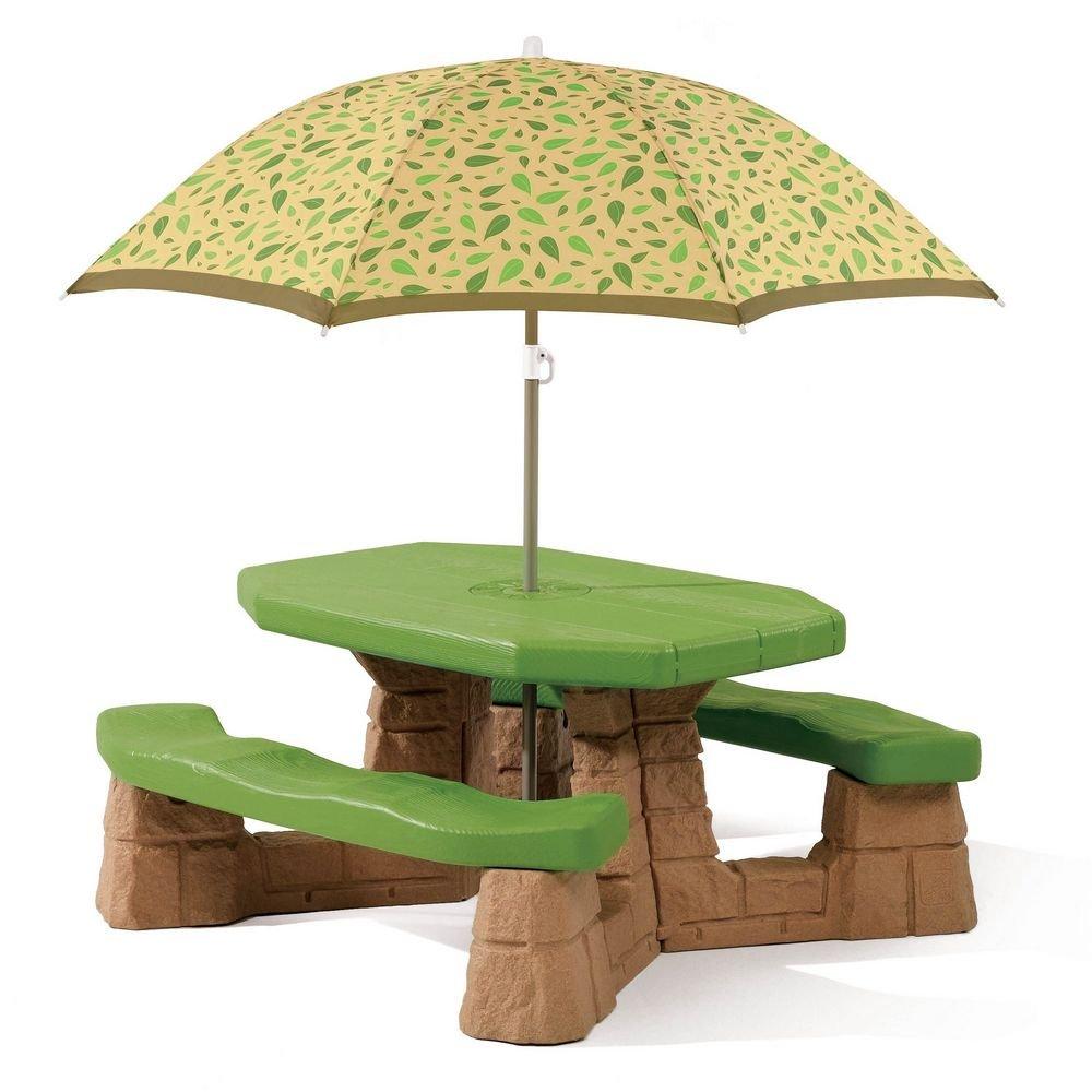 Step2 Kinder-Picknick-Tisch mit Sonnenschirm günstig kaufen