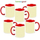 HomeSoGood Equidistant Square Structures Coffee Mugs (6 Mugs)