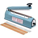 Metronic 8 inch Impulse Bag Sealer Poly Bag Sealing Machine Heat Seal Closer with Repair Kit (8 inch) (Tamaño: 8 inch)