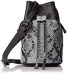 Halston Heritage Mini Bucket Handbag, Black/Multi, One Size,Black/Multi,One Size