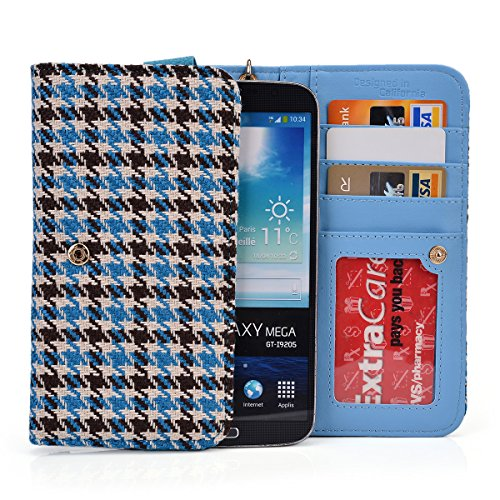 Kroo® Cell Phone Clutch Houndstooth Print Fits Apple Iphone 6 Plus front-1036106