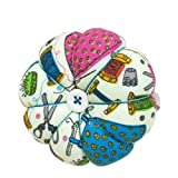 D&D Pin Cushion Wrist Pumpkin Pin Cushions Wearable Sewing Needle Pincushions for Needlework - Sewing Pattern Green (Color: Multicolored, Tamaño: Large)
