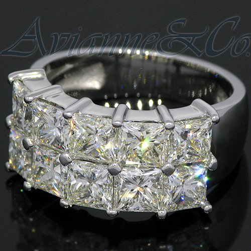 Platinum Womens Diamond Wedding Band 7.07 Ctw