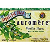 Auromere Ayurvedic Bar Soap Vanilla Neem , 2.75 Ounce