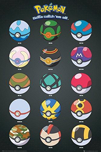 GB-eye-Pokemon-Pokeballs-Maxi-Poster-61x915cm