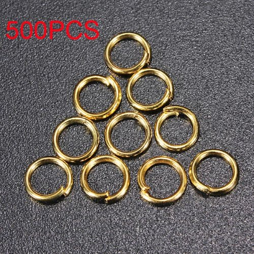 500Pcs Gold Silver Diy Jump Rings Open Connectors Jewelry Accessories