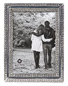 Burnes of Boston 544557 Virginia Dimension Picture Frame, 5-Inch by 7-Inch, Silver