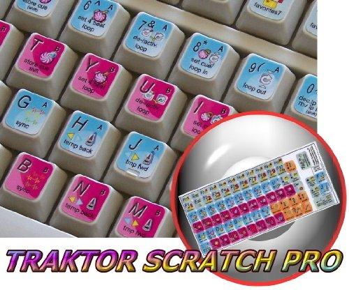 NATIVE INSTRUMENTS TRAKTOR SCRATCH PRO KEYBOARD STICKERS