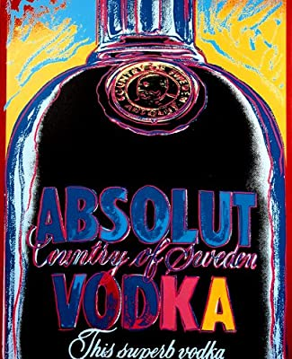 Big Bright Canvas Collection Andy Warhol.Absolut Vodka(1)