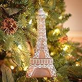 "8.5"" Paris France Eiffel Tower Glass Christmas Ornament"