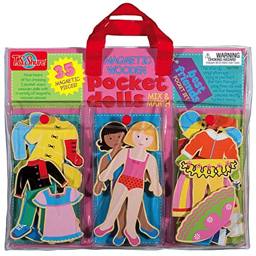 TS-Shure-Pocket-Dolls-Best-Friends-Wooden-Magnetic-Dress-Up-Dolls