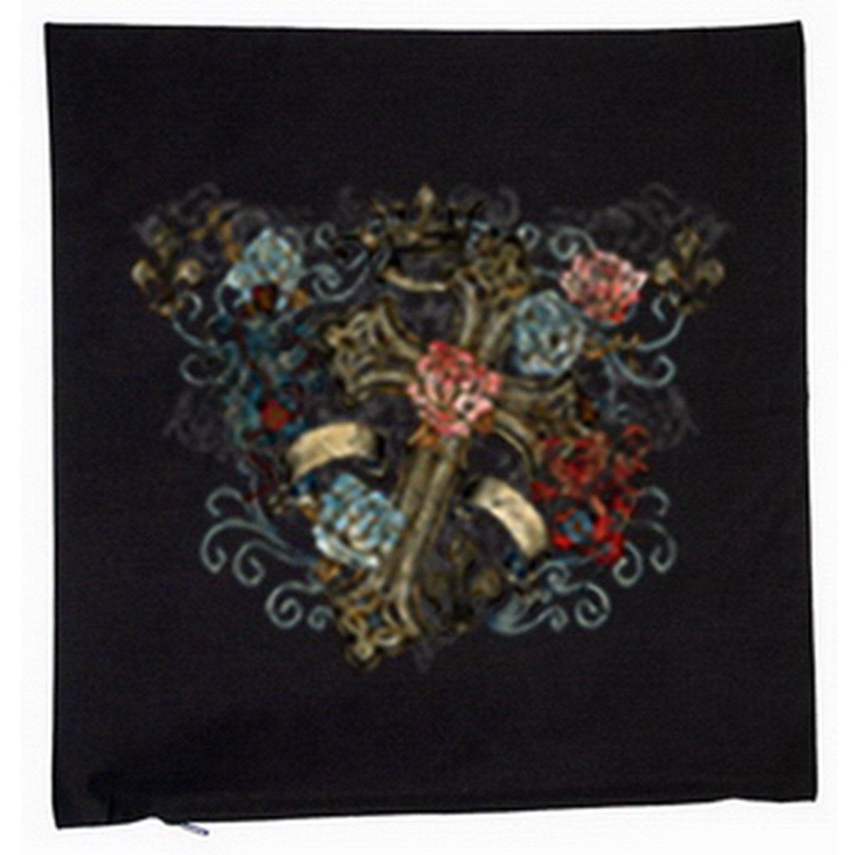 Gothic Kreuz Deko Kissen mit Füllung Farbe: schwarz Größe: 40x40cm kaufen