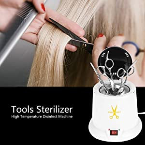 Beauty Tools Sterilizer, High Temperature UV Cleaning Tool Sterilizer with 140g Glass Ball, Ideal for Beauty Salon Spa Tattoo Nail Hair Quartz Beads for Manicure Pedicure Tools Equipment