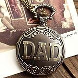 Central World Interesting Antique Brass DAD Pocket Watch by Central World Watch [並行輸入品]
