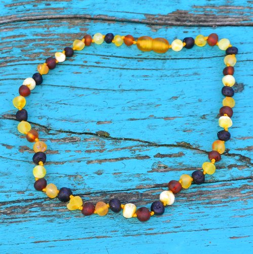 Raw Baroque Baltic Amber Teething Necklace For Baby